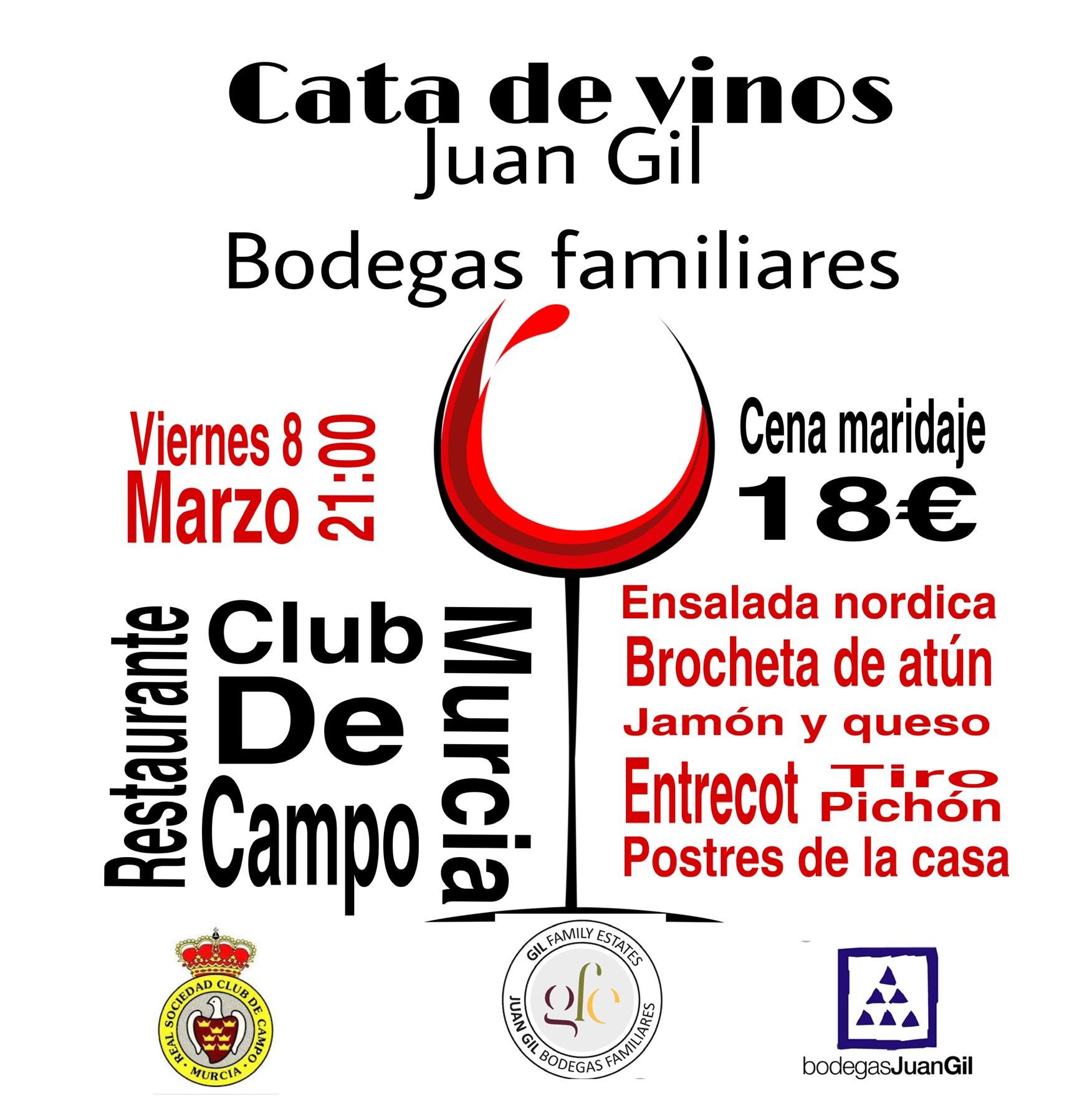 Cata de vinos Juan Gil con maridaje